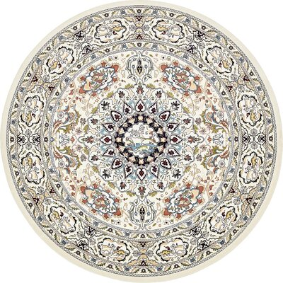 Courtright Cream/Tan Area Rug Rug Size: Round 10