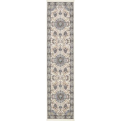 Courtright Cream/Tan Area Rug Rug Size: Runner 3 x 13