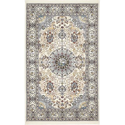 Courtright Cream/Tan Area Rug Rug Size: 8 x 10