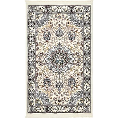 Courtright Cream/Tan Area Rug Rug Size: 3 x 5