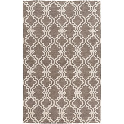 Coghlan Taupe/Ivory Area Rug Rug Size: Rectangle 5 x 76