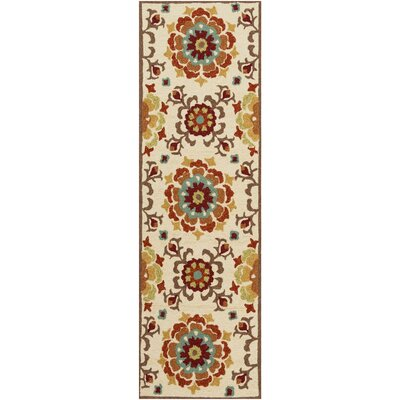 Natalia Brick Indoor/Outdoor Rug Rug Size: Runner 26 x 8