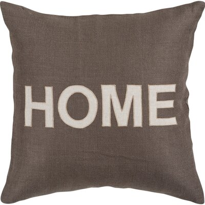 Acuna 100% Jute Throw Pillow Size: 18 H x 18 W x 1 D