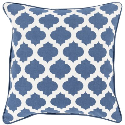 Conatser 100% Cotton Throw Pillow Cover Size: 18 H x 18 W x 0.25 D, Color: BlueNeutral