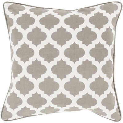Conatser 100% Cotton Throw Pillow Cover Size: 20 H x 20 W x 1 D, Color: TaupeWhite
