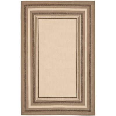 Alderman Nollet Beige/Dark Beige Indoor/Outdoor Area Rug Rug Size: Rectangle 27 x 5
