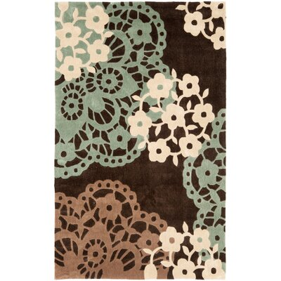 Norgate Hand-Tufted Brown Area Rug Rug Size: 9 x 12