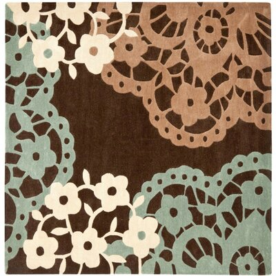 Norgate Hand-Tufted Brown Area Rug Rug Size: Square 5