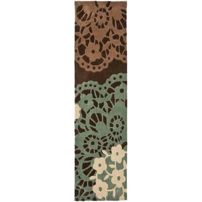 Norgate Hand-Tufted Brown Area Rug Rug Size: Runner 26 x 14