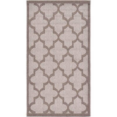 Perry Light Gray Outdoor Area Rug Rug Size: 27 x 49