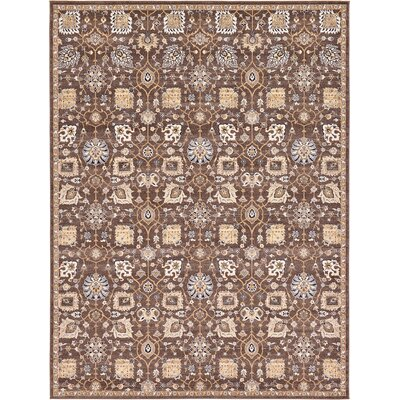 Peter Tradition Brown Area Rug Rug Size: 9 x 12