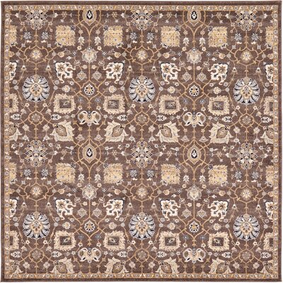 Peter Tradition Brown Area Rug Rug Size: 84 x 84