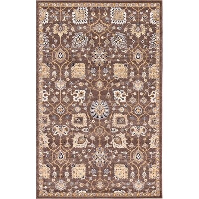Peter Tradition Brown Area Rug Rug Size: 5 x 8