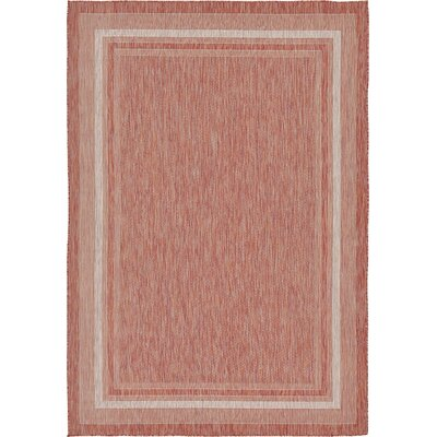 Erma Rust Red Outdoor Area Rug Rug Size: 7 x 10