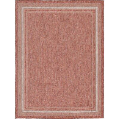 Erma Rust Red Outdoor Area Rug Rug Size: 9 x 12
