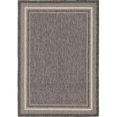 Ernest Black Outdoor Area Rug Rug Size: 8 x 114