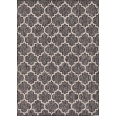 Ernestine Black Outdoor Area Rug Rug Size: 7 x 10