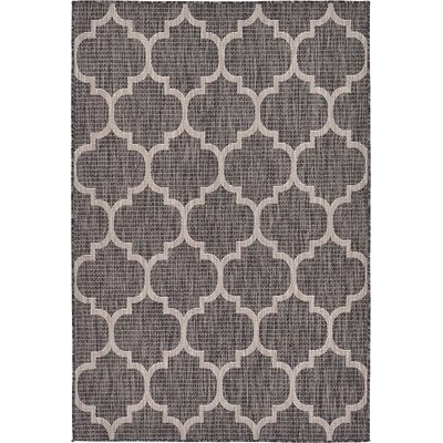 Ernestine Black Outdoor Area Rug