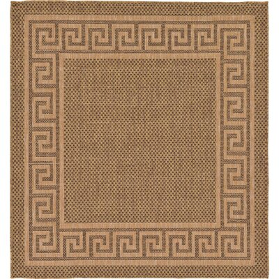 Flint Brown Outdoor Area Rug Rug Size: Square 6