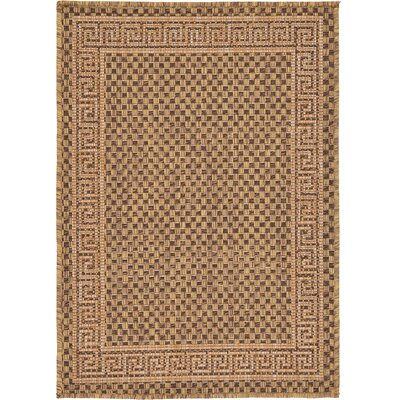 Flint Brown Outdoor Area Rug Rug Size: 22 x 3