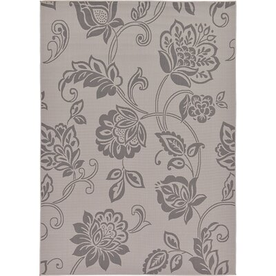 Florence Gray Outdoor Area Rug Rug Size: 7 x 10