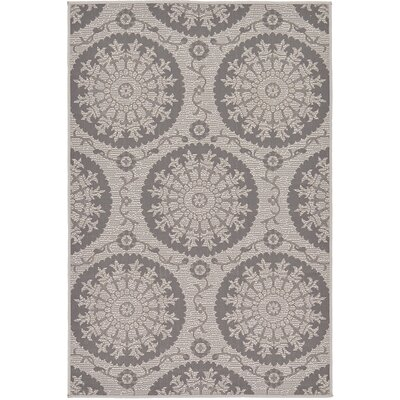 Forbes Gray Outdoor Area Rug Rug Size: 33 x 5