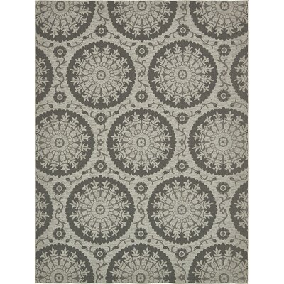Forbes Gray Outdoor Area Rug Rug Size: 9 x 12