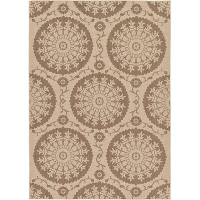 Foreside Beige Outdoor Area Rug Rug Size: 7 x 10