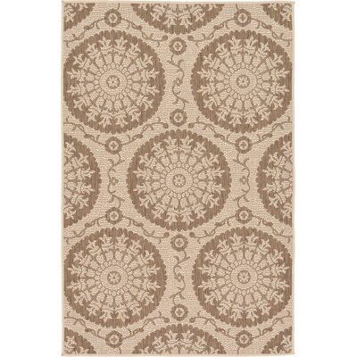 Foreside Beige Outdoor Area Rug Rug Size: 33 x 5