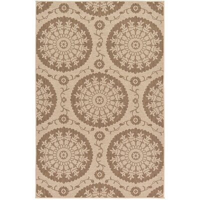 Foreside Beige Outdoor Area Rug Rug Size: 53 x 8