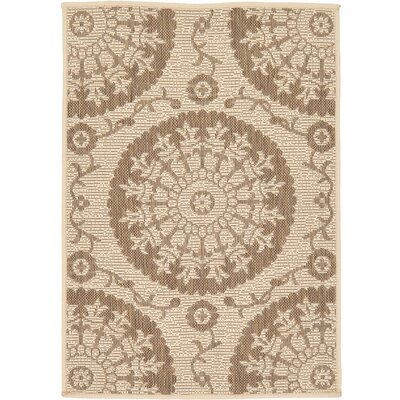 Foreside Beige Outdoor Area Rug Rug Size: 22 x 3