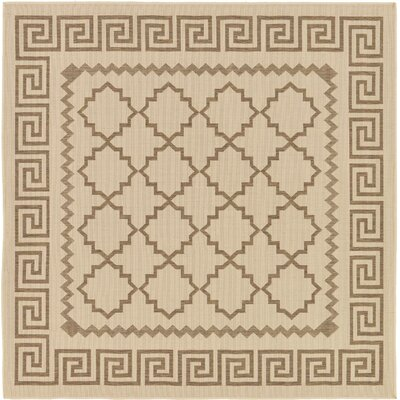 Georgianna Beige Outdoor Area Rug Rug Size: Square 6