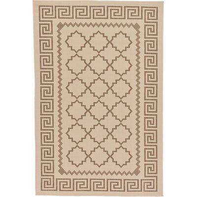 Georgianna Beige Outdoor Area Rug Rug Size: 53 x 8
