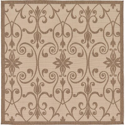 Gerald Brown Outdoor Area Rug Rug Size: Square 6