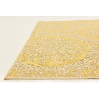 Arabian Yellow Indoor/Outdoor Area Rug Rug Size: Square 6