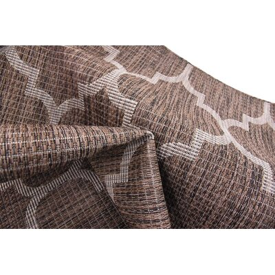 Hampstead Brown Outdoor Area Rug Rug Size: 5 x 8