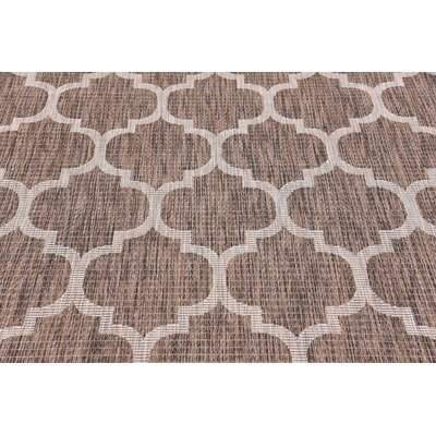 Hampstead Brown Outdoor Area Rug Rug Size: Rectangle 5 x 8