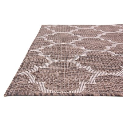 Hampstead Brown Outdoor Area Rug Rug Size: 4 x 6