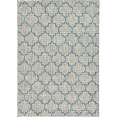 Cheap Hannah Gray Outdoor Area Rug Rug Size 7 x 10  for sale