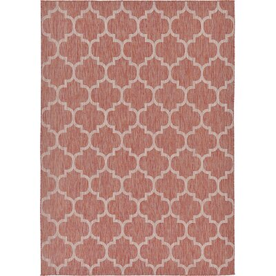 Tandridge Rust Outdoor Red Area Rug