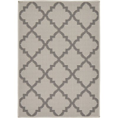 Templepatrick Gray Outdoor Area Rug Rug Size: Round 6