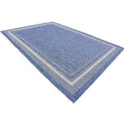 Durocher Blue Outdoor Area Rug Rug Size: Rectangle 4 x 6