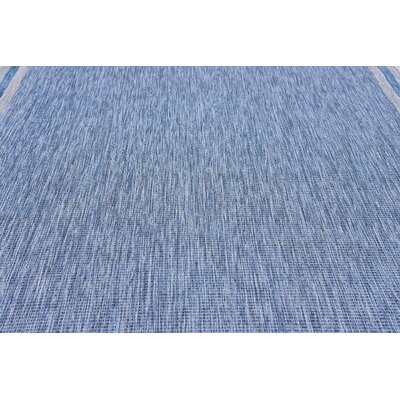 Durocher Blue Outdoor Area Rug Rug Size: 9 x 12
