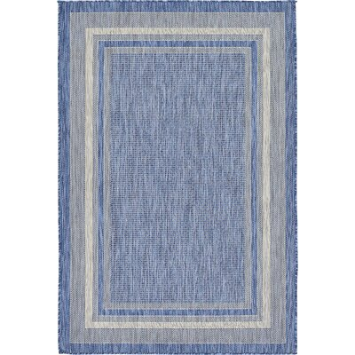 Tennant Blue Outdoor Area Rug Rug Size: 4 x 6