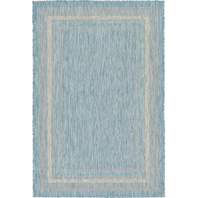 Thomas Aquamarine Outdoor Area Rug Rug Size: 4 x 6