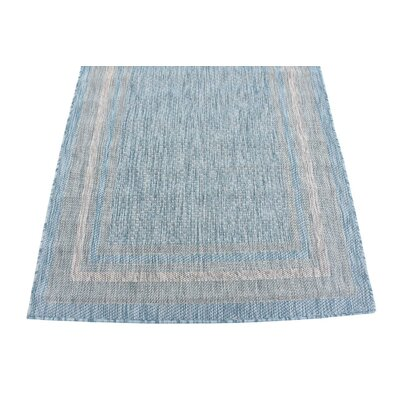 Thomas Aquamarine Outdoor Area Rug Rug Size: 4' x 6'