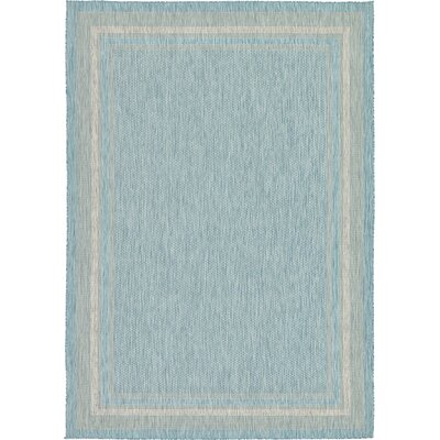 Thomas Aquamarine Outdoor Area Rug Rug Size: 8 x 114