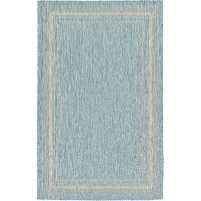 Thomas Aquamarine Outdoor Area Rug Rug Size: 5 x 8