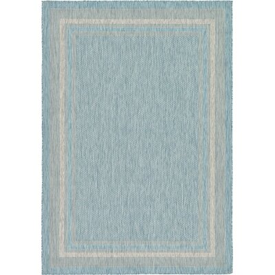 Thomas Aquamarine Outdoor Area Rug Rug Size: Rectangle 7 x 10