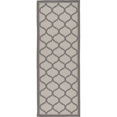 Unionville Gray Outdoor Area Rug Rug Size: Runner 22 x 6
